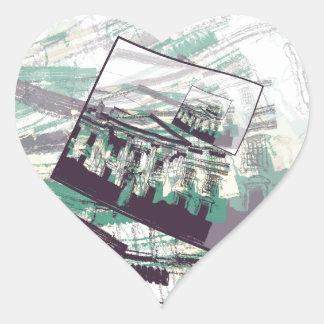 White House Graphic Heart Sticker