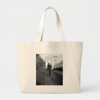 White House green lawn 1930s Tote Bags