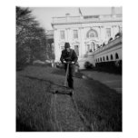 White House, green lawn: 1937 Poster