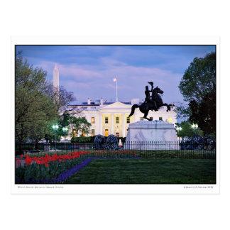 White House- Lafayette Square- Spring Postcard