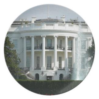 White House Melamine Plate