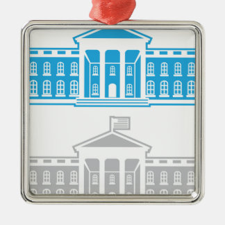 White House Metal Ornament
