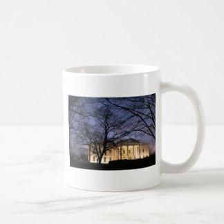 White House Night Scene Coffee Mugs