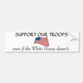 White House non Support Car Bumper Sticker