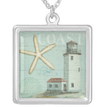 White House on the Beach Silver Plated Necklace