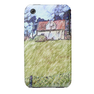 white house on the hill iPhone 3 Case-Mate cases