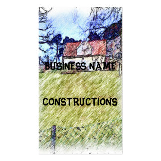white house on the hill Double-Sided standard business cards (Pack of 100)