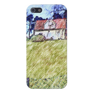 white house on the hill iPhone 5/5S cases