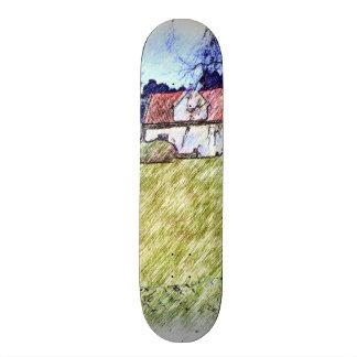 white house on the hill skateboard