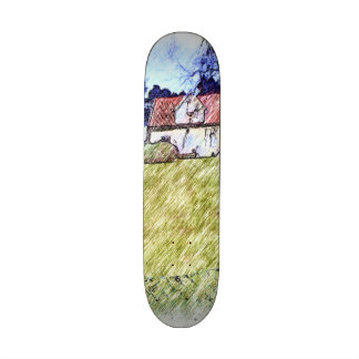 white house on the hill skate board