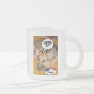 White-House Pet/German Shepherd Frosted Glass Coffee Mug