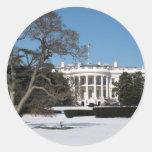 White House Photo Round Stickers