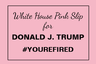 Anti trump business cards templates zazzle white house pink slip for trump resistance 2 business card colourmoves