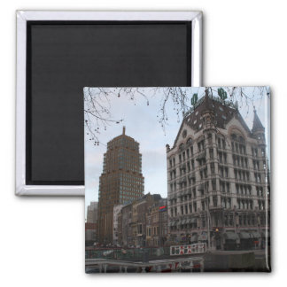 White House, Rotterdam 2 Inch Square Magnet