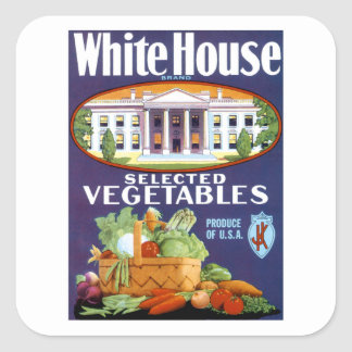 White House Selected Vegetables Square Sticker