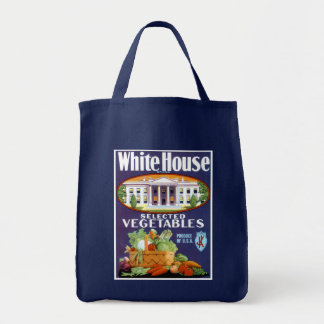 White House Selected Vegetables Tote Bag