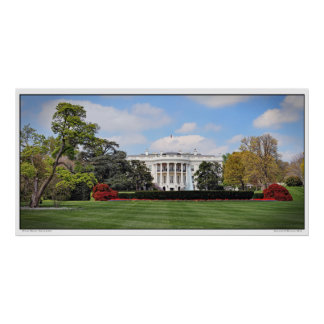 White House- South Lawn- Panoramic Poster