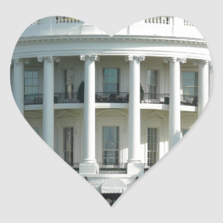White House Heart Sticker