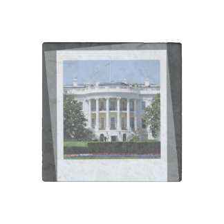 WHITE HOUSE STONE MAGNET