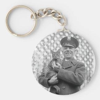 White House Tiger: 1924 Keychain