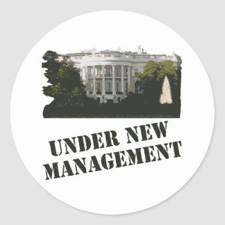 White House: Under New Management Classic Round Sticker