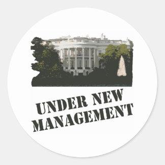 White House: Under New Management Round Stickers