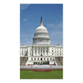 White House US Capitol Building Washington DC Business Card Templates
