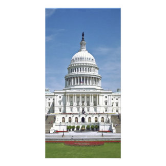 White House US Capitol Building Washington DC Card