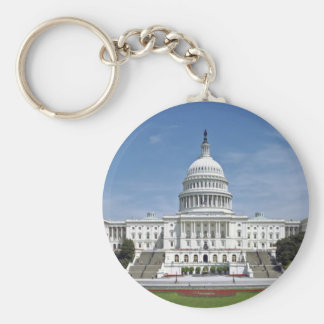 White House US Capitol Building Washington DC Keychain