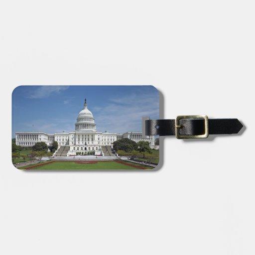 White House US Capitol Building Washington DC Luggage Tag