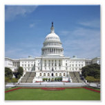 White House US Capitol Building Washington DC Photographic Print