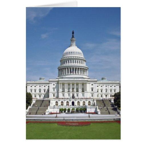 White House US Capitol Building Washington DC Stationery Note Card
