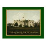 White House Vintage Christmas Postcard