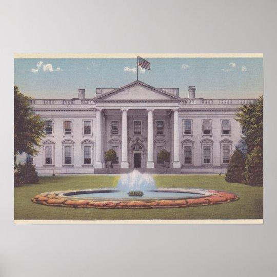 White House Washington DC Poster