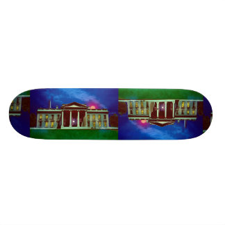 White house with sun skate board