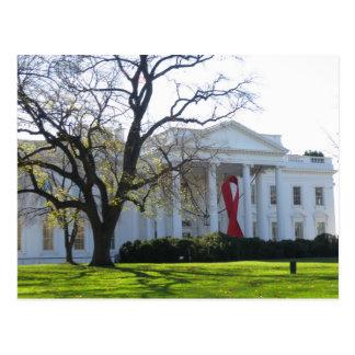 White House World AIDs Day Ribbon Postcard
