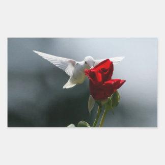 White Hummingbird Rectangular Sticker