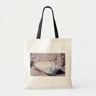 White hump-back conch (Strombus gibberculus albus) Canvas Bag