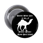 White Hump Day Camel 2 Inch Round Button