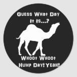 White Hump Day Camel Classic Round Sticker
