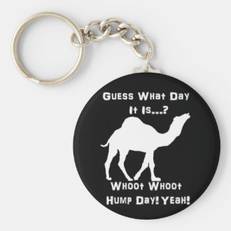 White Hump Day Camel Keychain