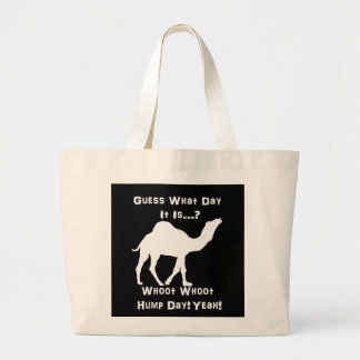 White Hump Day Camel Large Tote Bag