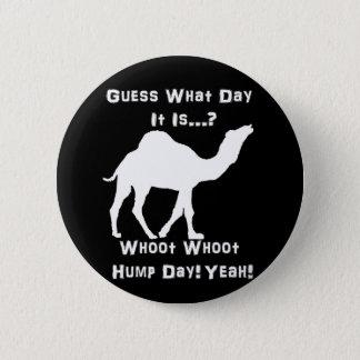 White Hump Day Camel Pinback Button