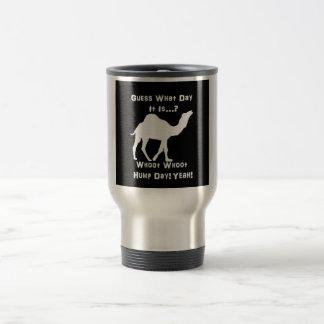 White Hump Day Camel Travel Mug