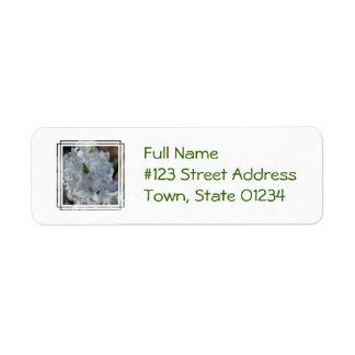 White Hyacinth Flowers Return Address Label