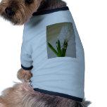 White Hyacinth. Pet Shirt