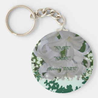 White Hyacinths & Butterflies Keychain 2 Customize