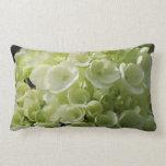 White Hydrangea Blossoms Lumbar Pillow