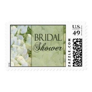 White hydrangea Bridal Shower stamp