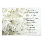 White Hydrangea Floral Bridal Shower 5x7 Paper Invitation Card